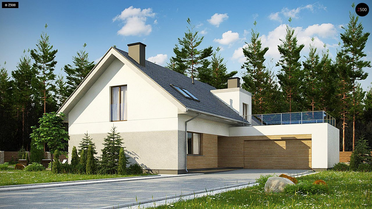 Проект будинку Z358 - 1