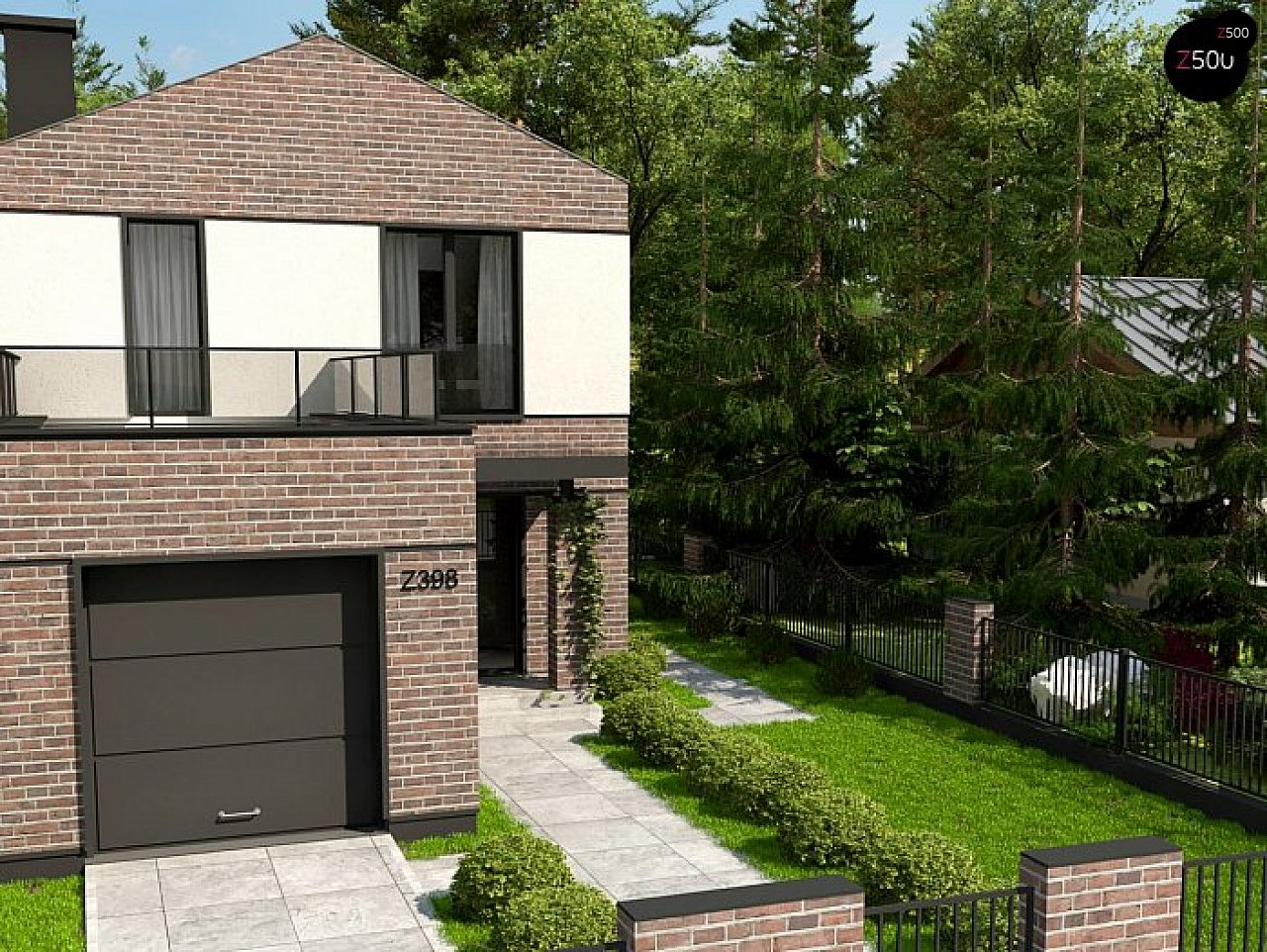 Проект будинку Z398 v1 - 1