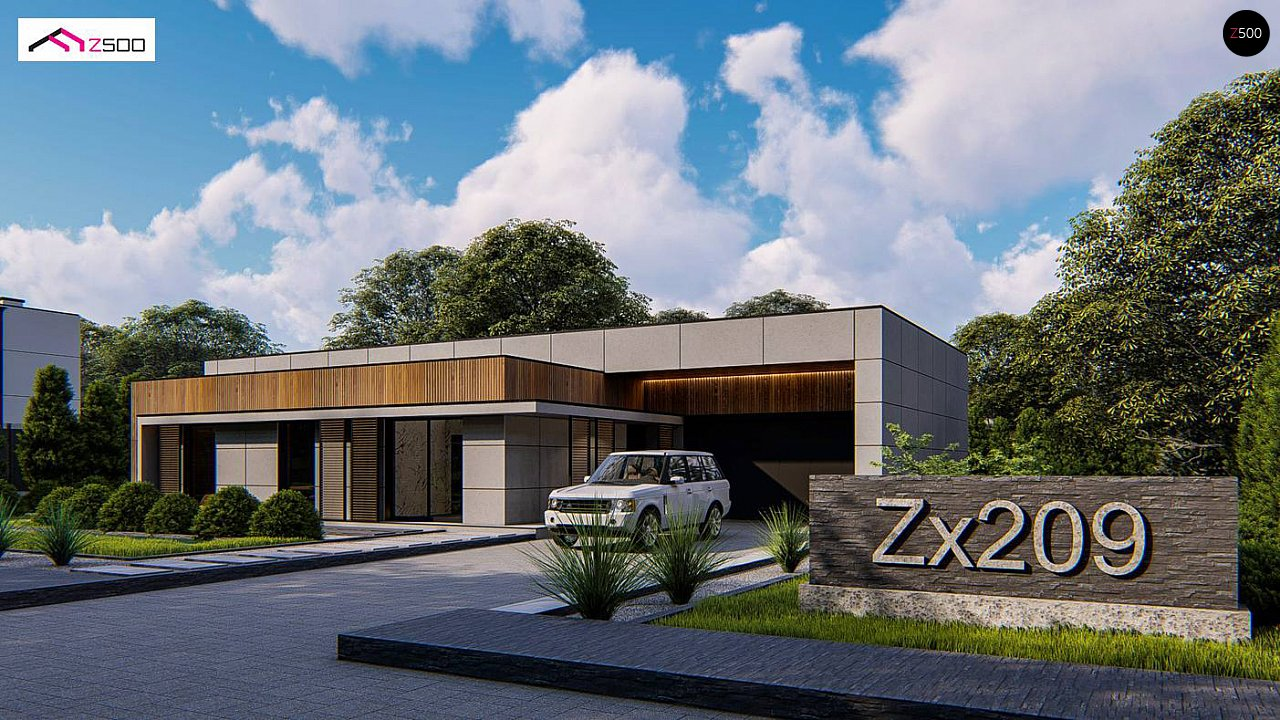Проект будинку Zx209 - 1