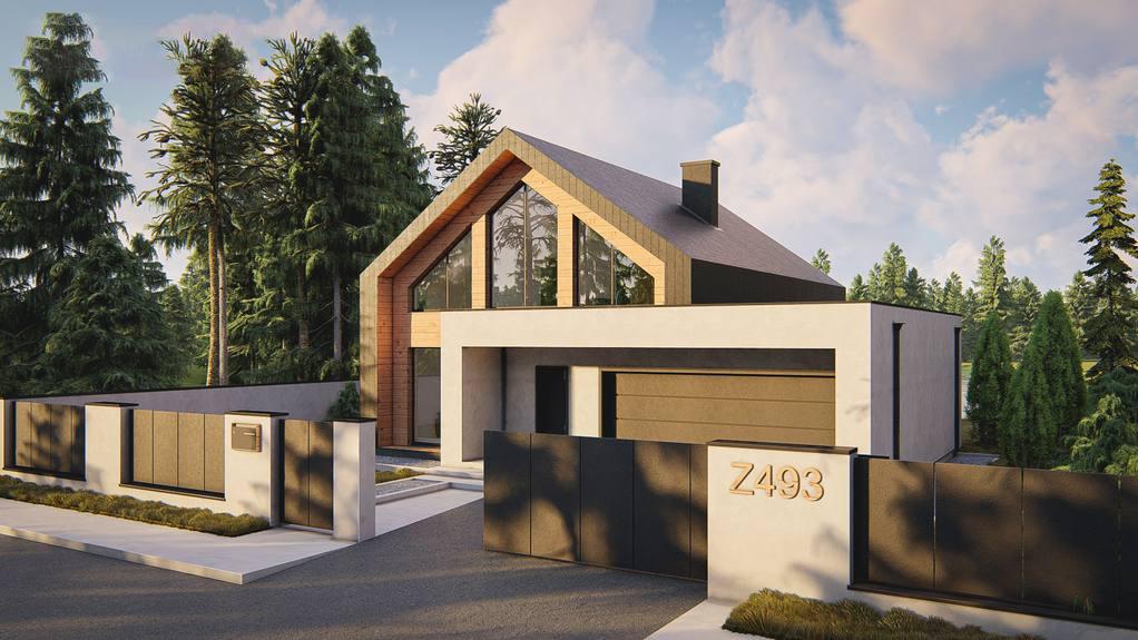 Проект будинку Z493 - 1