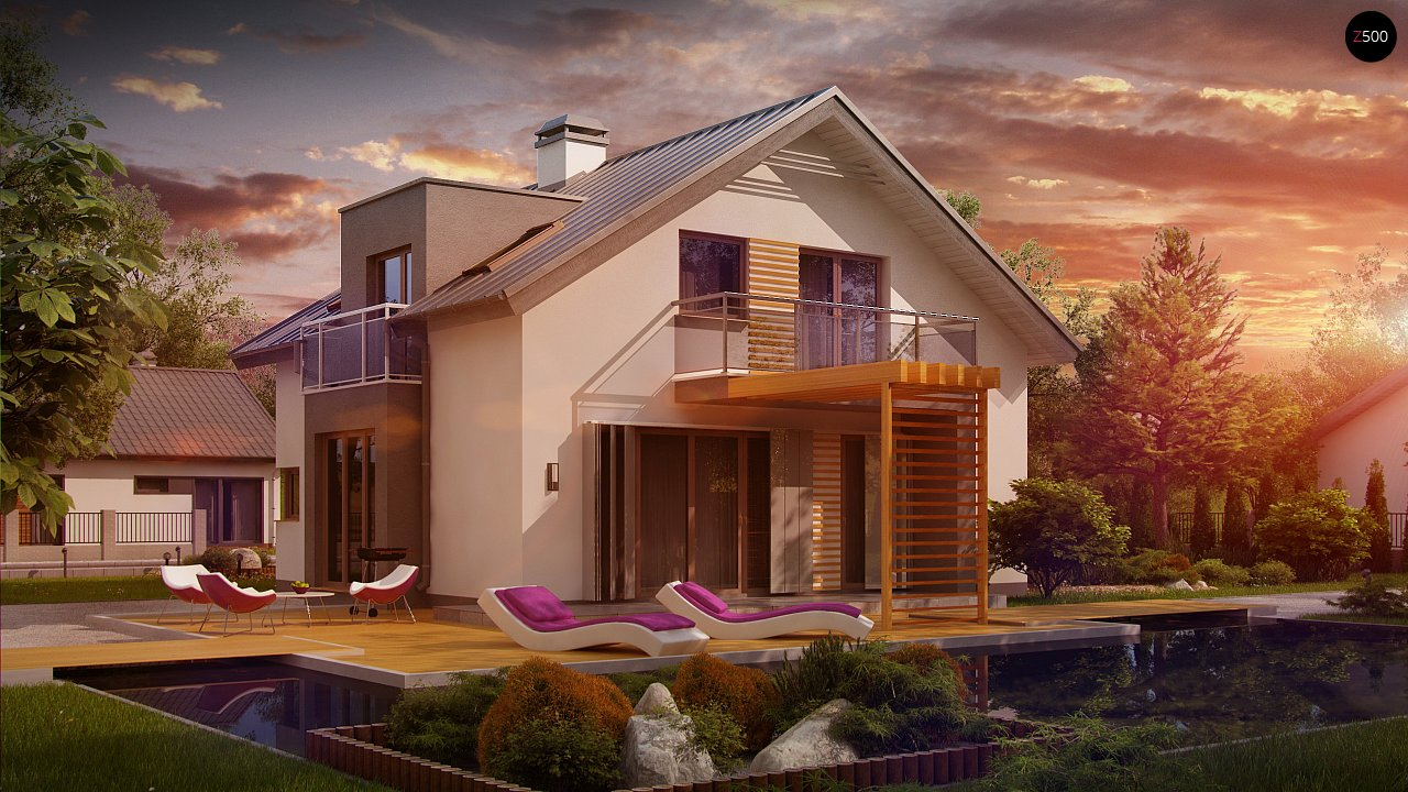Проект будинку Z245 - 1