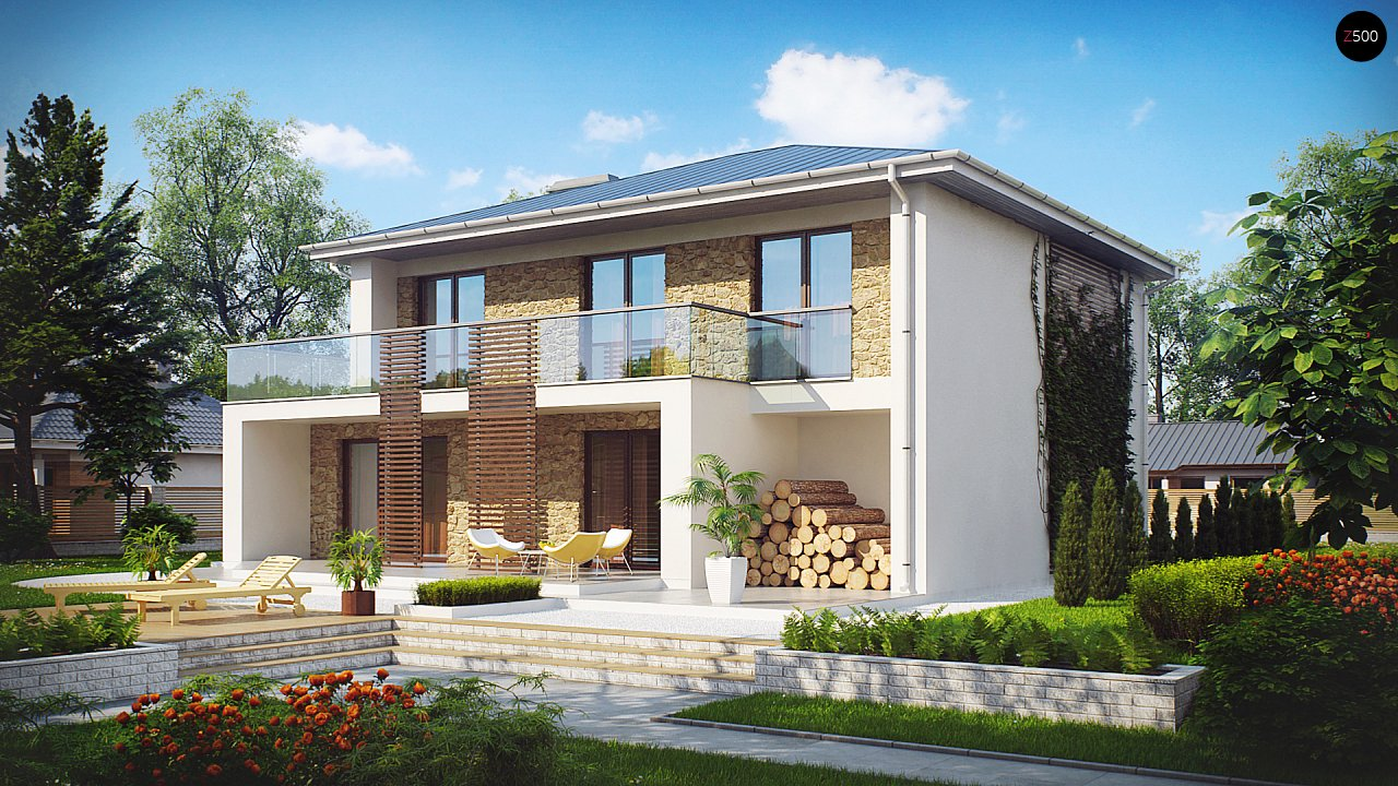 Проект будинку Zx55 - 1