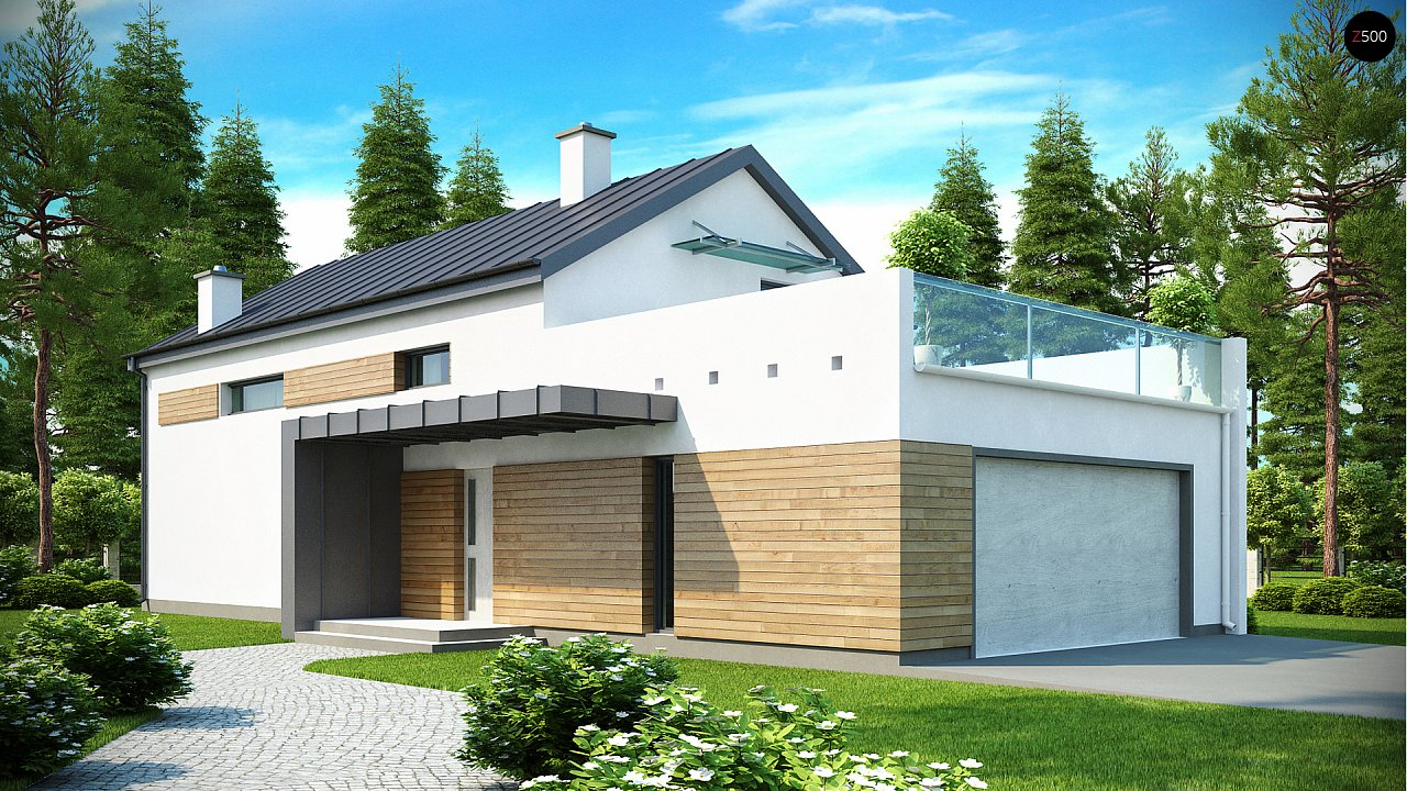 Проект будинку Zx60 - 1