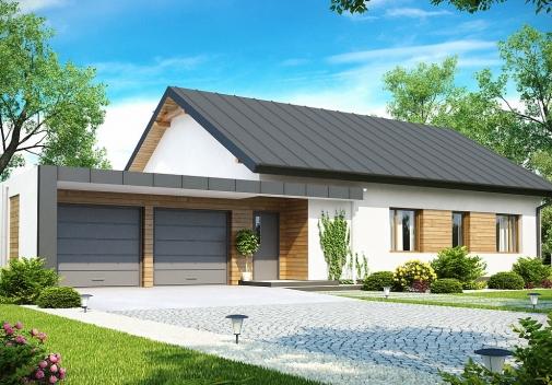 Проекти будинків з гаражем на 2 машини