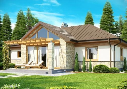 Проект будинку зі складним дахом у Києві