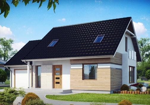 Проекты домов с двускатной крышей в Киеве