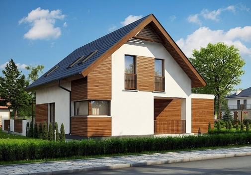 Проект будинку з гаражем на 2 машини в Києві