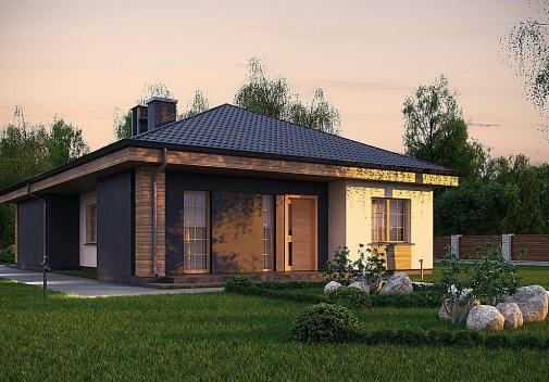 Проект будинку з чотирисхилим дахом