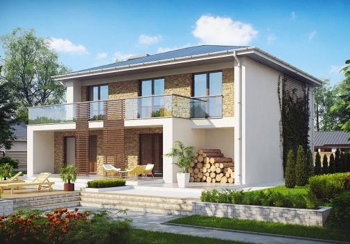 Проект будинку Zx55 в Киеве
